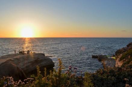 Coucher de soleil vu du haut des Sunset Cliffs