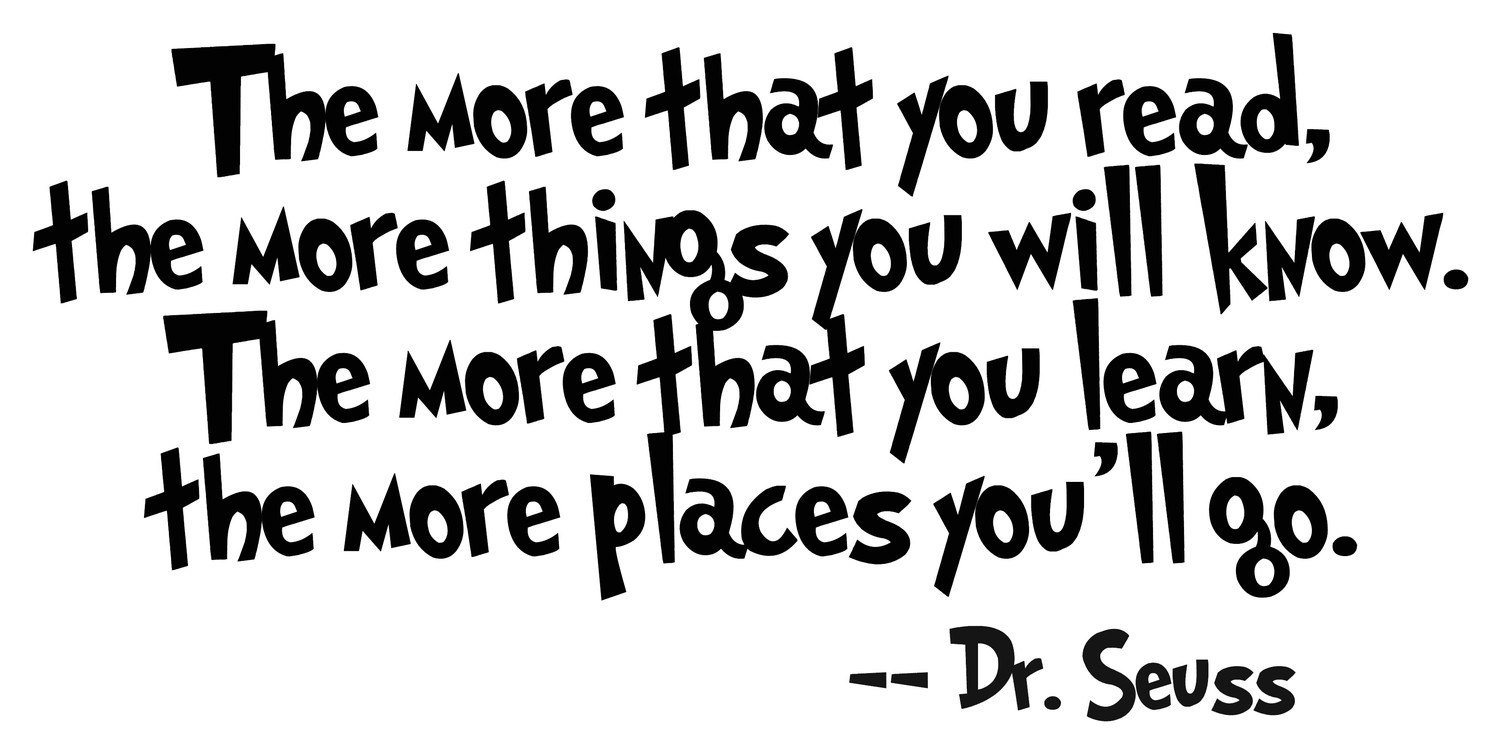 Reading Dr Seuss Quotes Posters. QuotesGram