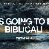 """Q VIDEOS - AH2020  Le 20 H du 28/11, """"CA VA ETRE BIBLIQUE""""."""