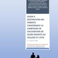 Guide à destination des parents concernant la campagne de vaccination de leurs enfants.
