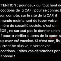 URGENT : AttentionCAF et NUMÉRO DE SÉCUGros bug sur le site de la CAF, lire la suite...