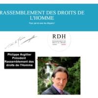 """Philippe Argillier Président du Rassemblement des Droits de l'Homme. Philippe Argillier aux États-Unis """"Quand la vérité s'exporte""""."""
