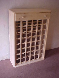 48 Bottle Wine Rack With Top Draw