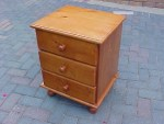 Jason 3 Draw Pedestal With Large Draws and Top