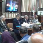 الأستاذ/ طه عجلان وكيل الوزارة ولقائه الأول مع قيادات التعليم بالقليوبية