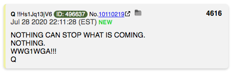 Q Post 4616 QAnon.fun