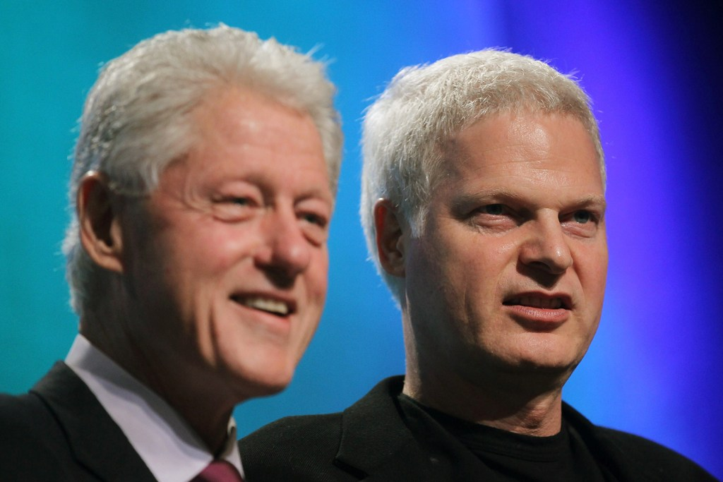 Steve Bing with Bill Clinton before his untimely death