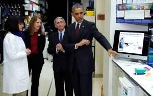 Phony Tony Fauci Bill Gates Husband and Barry Obama in Laboratory Creating Coronavirus