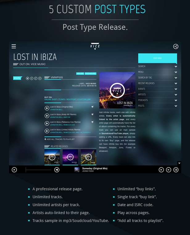 Mixcloud Music WordPress Theme