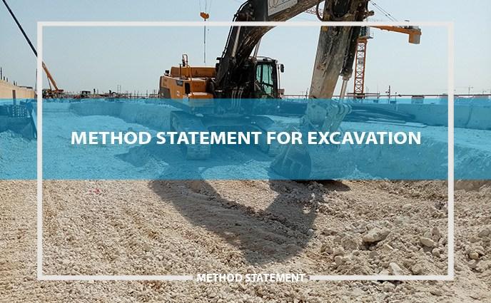 method statement for excavation