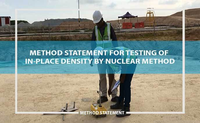 method statement for testing of in-place density by nuclear method