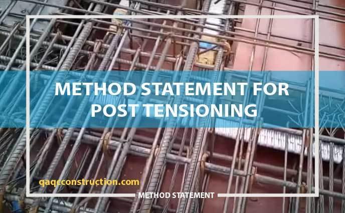 method-statement post-tensioning of slab