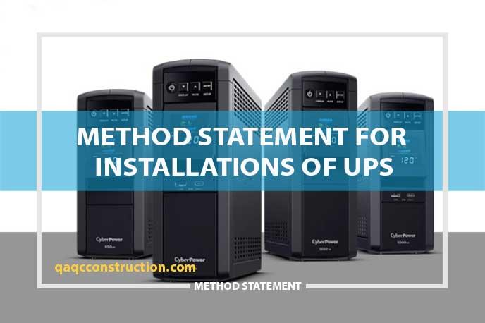 method-statement-UPS