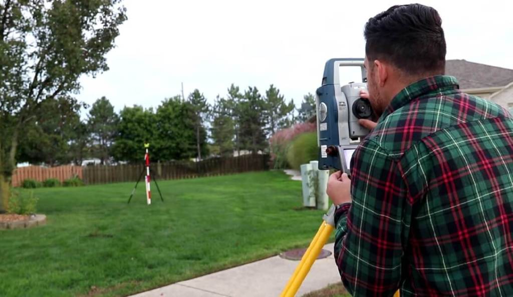 surveyor setting out the project work