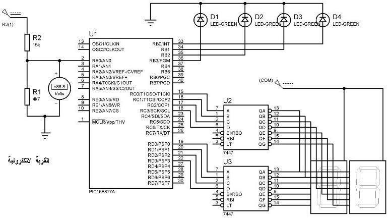 الدارة المطبوعة schematic في برنامج eagle