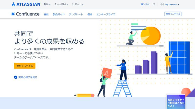 Atlassian Confluence 製品ページ