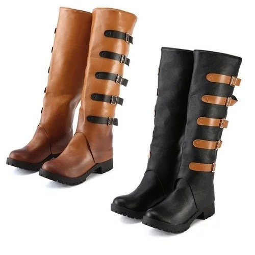 Fashion Boots Leather Vintage Knee Boots Female Shoes Women Winter New Arrive Keep Warm Women Thick 2.jpg 640x640 2