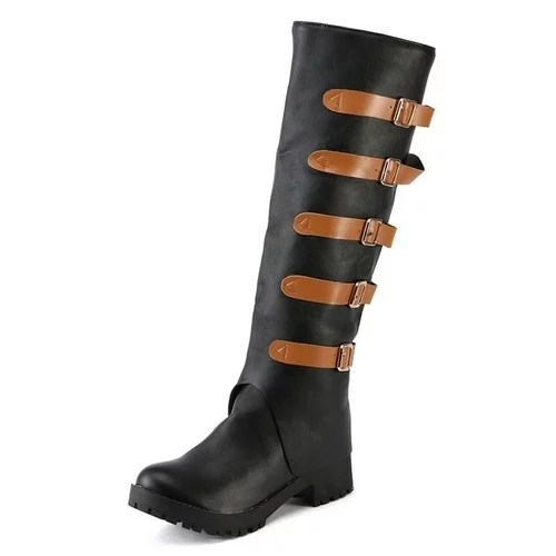 Fashion Boots Leather Vintage Knee Boots Female Shoes Women Winter New Arrive Keep Warm Women Thick 3.jpg 640x640 3
