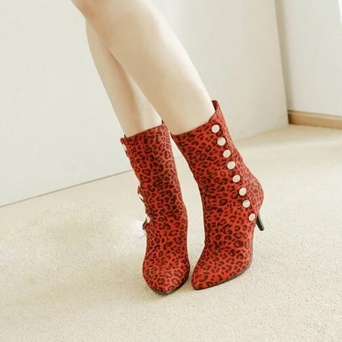 Leopard Printed Shoes Women s Snow Boots High Heeled Button Ankle Boots Leather High Heels Sexy 2.jpg 640x640 2