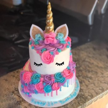 Cyuan Unicorn Baby Shower Cake Topper Cupcake Wrappers Unicorn Party Cake Accessories Kids Birthday Party Decoration