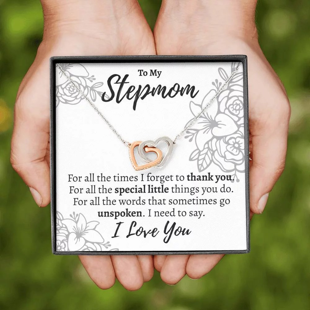 stepmom for all the interlocking hearts necklace 260116