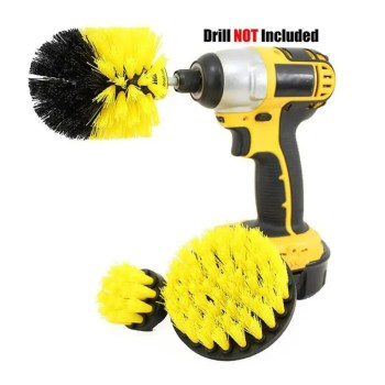 3 pcs set Power Scrubber Brush Drill Brush Clean for Bathroom Surfaces Tub Shower Tile Grout