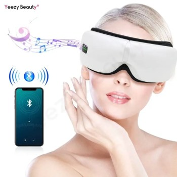 Wireless Electric Eyes Massager Machine Eye Care Instrument with Air Pressure Heating Vibration Music Foldable Eye