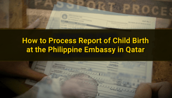 Services by the Philippine Embassy in Qatar and Overseas Labor