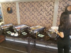Asian style buffet breakfast at the Hotel St. Ellis Legazpi