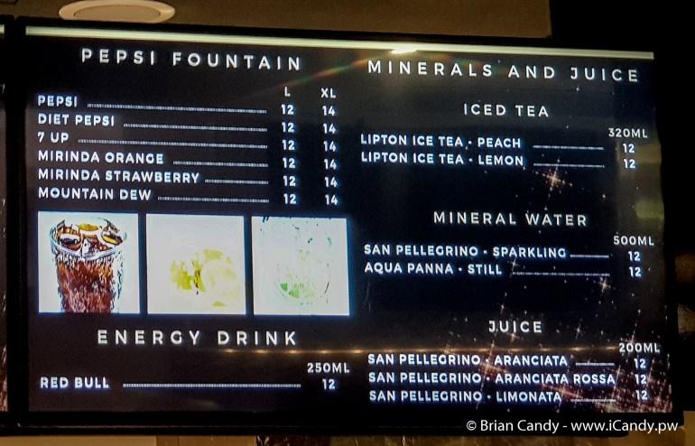 Price of Drinks in Flik