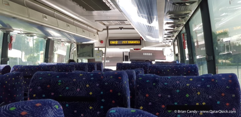 The inside of bus 777