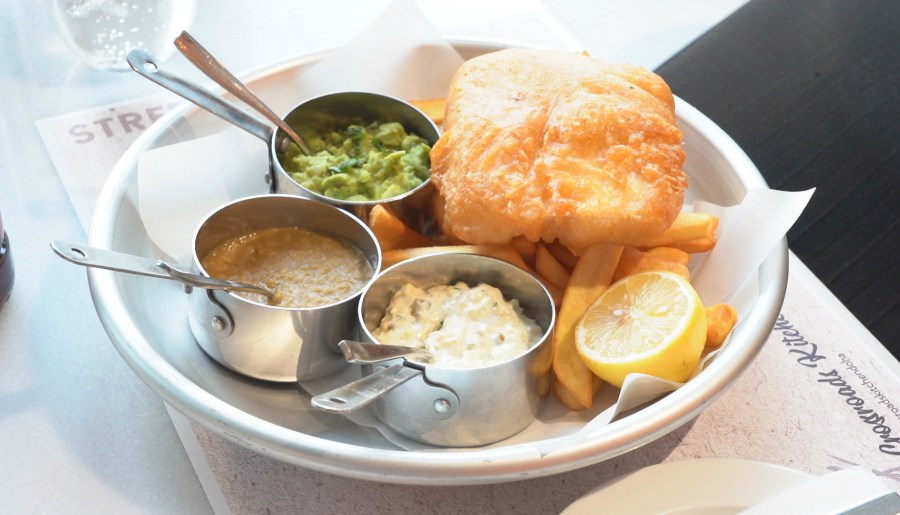 Fish and Chips at the Marriott Marquis Doha