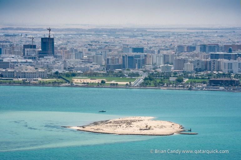 Photo of Palm Island from above, Doha, Qatar