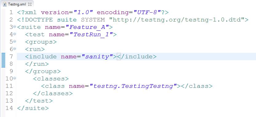 TestNG xml file