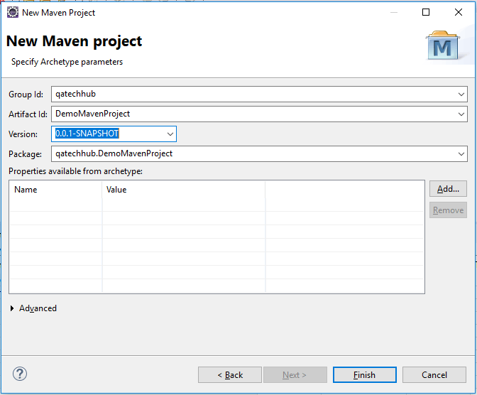 Group Id and Artifact Id in maven project