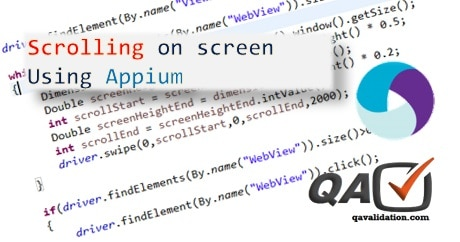 Scrolling in appium - qavalidation