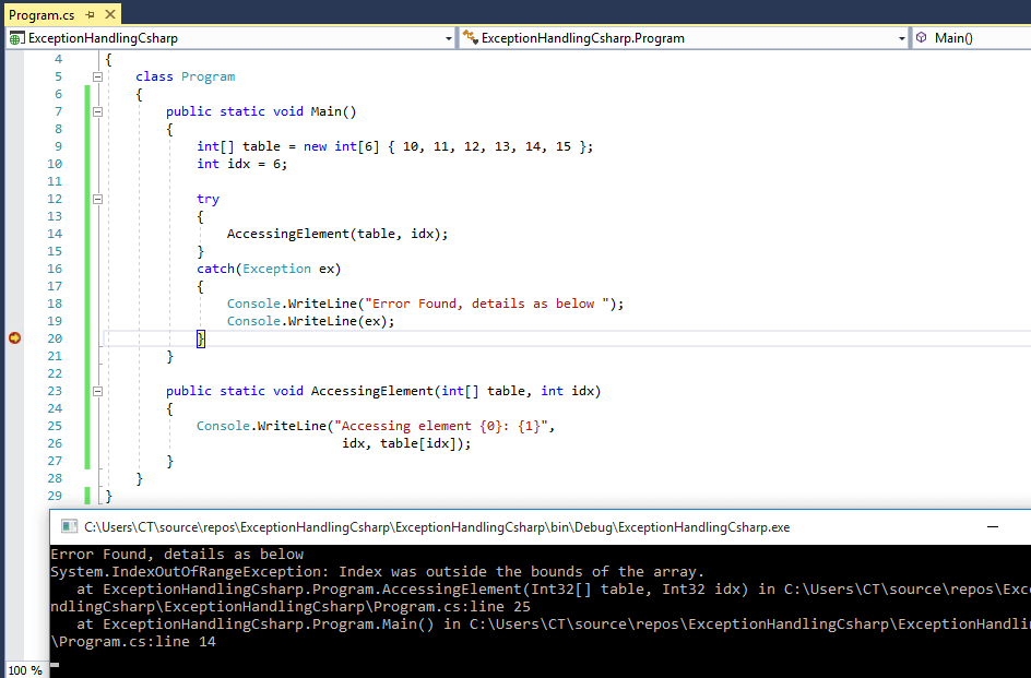C# - Exception handling in C# (With try-catch-finally block details) - QA With Experts