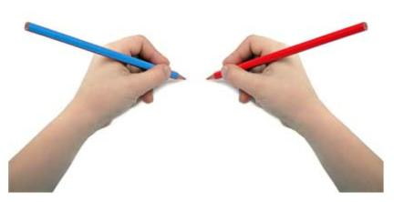 right-and-left-hands-with-pencil