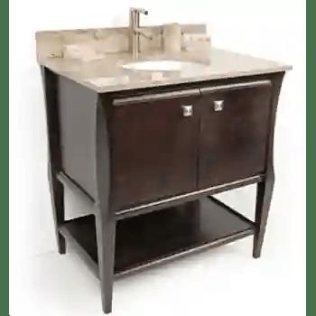 Dvontz Sh1130 Es Sahara Espresso Bathroom Vanity Qualitybath Com