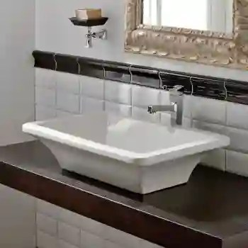 butterfly above counter bathroom sink