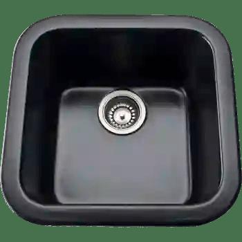 rohl 5927 63 allia 17 1 2 fireclay single bowl bar or kitchen prep sink