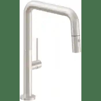 poetto pull down kitchen faucet quad spout