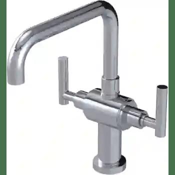 genesis single hole two handle kitchen faucet