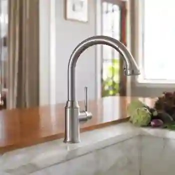 hansgrohe talis c kitchen faucet pull up cabinets 04215 qualitybath com image 1