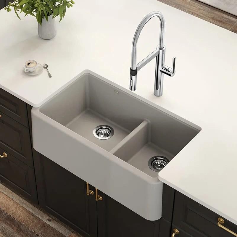 blanco 402322 ikon 33 apron front sink double bowl