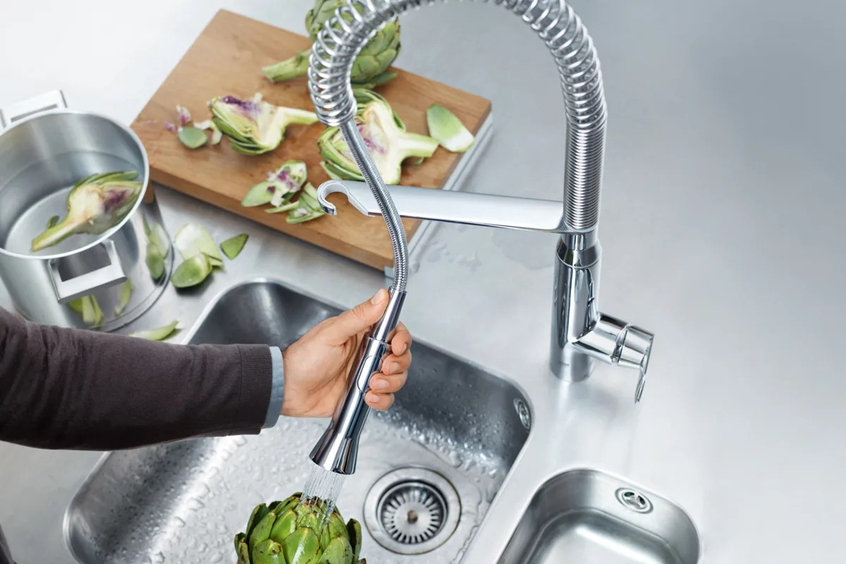 kitchen pull down faucet redesign my the out or side spray