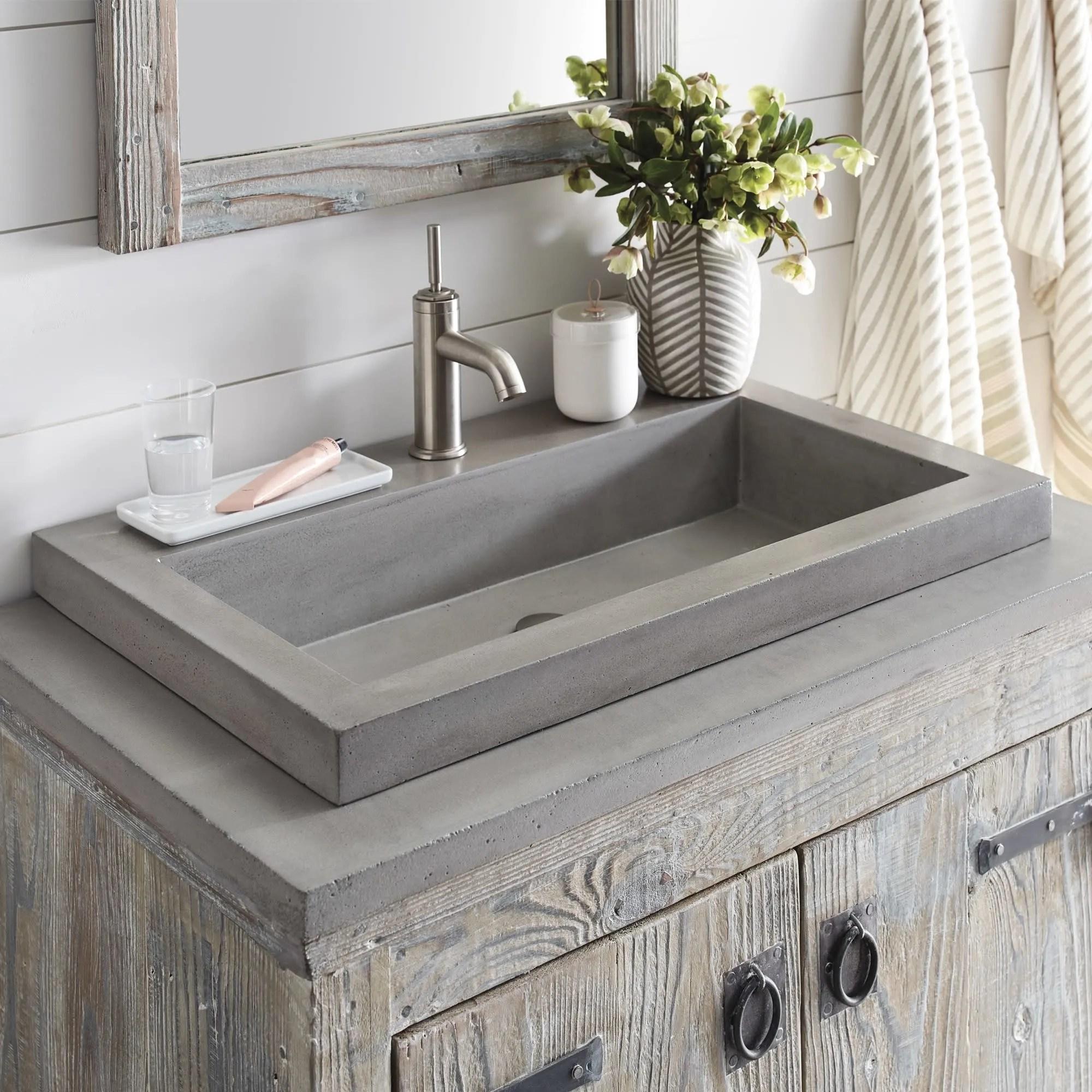 native trails nsl3019 ax nativestone trough bathroom sink