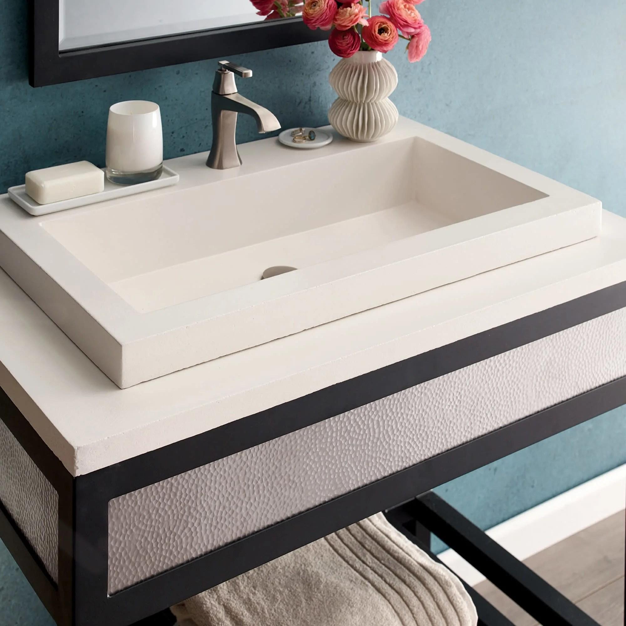 native trails nsl3019 nativestone trough bathroom sink