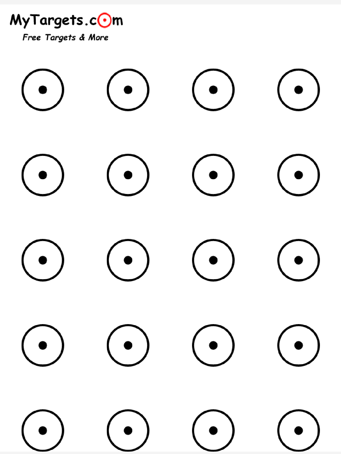 It's just a picture of Satisfactory Rimfire Targets Printable