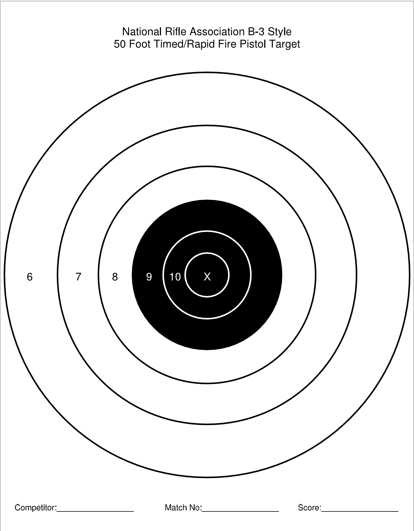 It's just a photo of Nra B-8 Target Printable throughout pdf